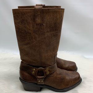 Cabela's Brown Distressed Leather Harness Boots